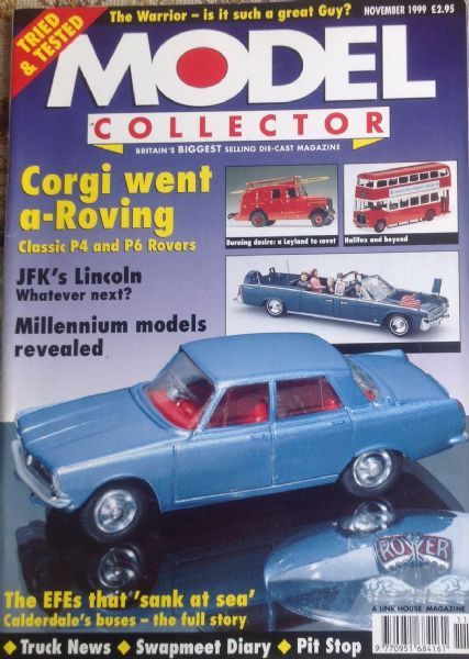 ORIGINAL MODEL COLLECTOR MAGAZINE November 1999